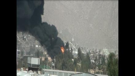Arequipa: nueve personas resultaron heridas en explosión de cisterna
