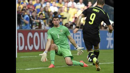 Fernando Torres y el gol que le dio el 2-0 a España ante Australia