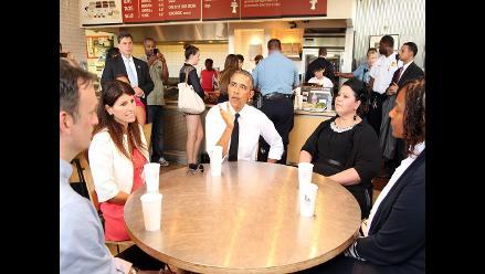 Obama se vuelve a escapar para comer un burrito mexicano