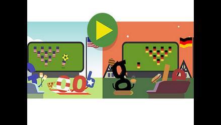 Google sorprende con un ´doodle´ por el partido entre EEUU y Alemania