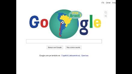 Google sorprende con un ´doodle´ por el partido entre Brasil y Chile