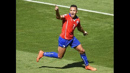 Alexis Sánchez marcó el empate tras error de Hulk en el Brasil-Chile
