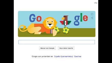 Google sorprende con un ´doodle´ por el partido entre Holanda y México