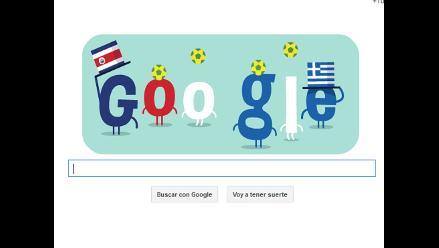 Brasil 2014: ´doodle´ por el partido entre Costa Rica - Grecia