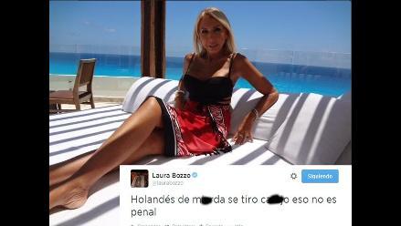 Laura Bozzo y los furiosos tuits que dejó el México vs. Holanda