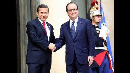 Ollanta Humala se reunió con el presidente francés Francois Hollande