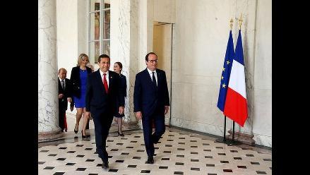 Reunión presidencial: Humala visita a Hollande en Francia