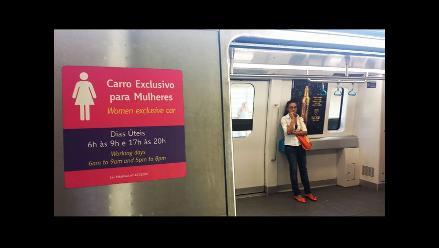 Río de Janeiro: Mujeres de acuerdo con vagones segregados