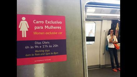 Metro de Río cuenta con vagones exclusivos para mujeres