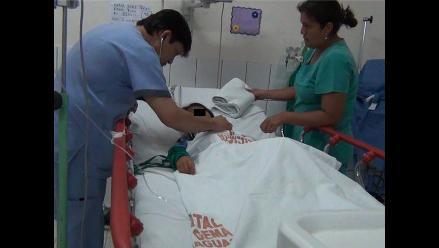 Yurimaguas: niña mordida por víbora continúa recuperándose