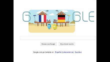 Brasil 2014: Google luce nuevo Doodle por el Alemania - Francia