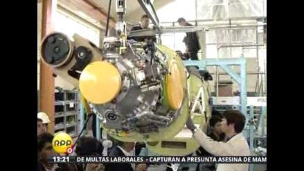 Pedro Cateriano inspeccionó ensamblaje de aviones