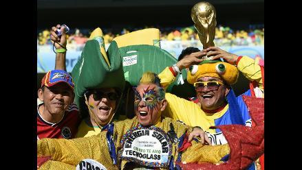 Brasil vs. Colombia: hinchas arman la fiesta en el Castelao