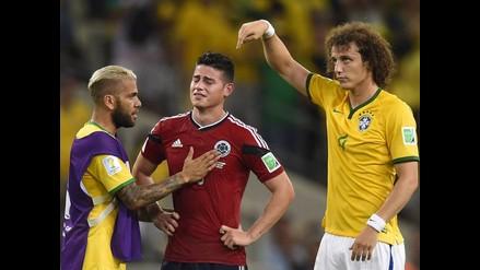 James Rodríguez y un triste llanto que acabó en abrazo con David Luiz