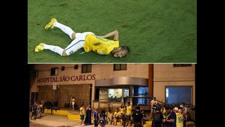 Así llegó Neymar al hospital tras salir lesionado ante Colombia