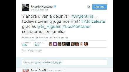 Argentina vs. Bélgica: famosos argentinos celebran en Twitter