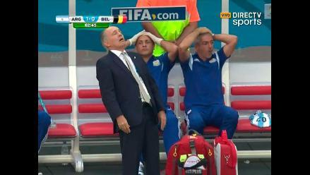 El ´desmayo´ de Alejandro Sabella en el Argentina vs. Bélgica