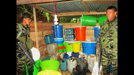VRAEM: destruyen laboratorio clandestino de clorhidrato de cocaína