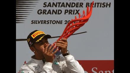 Hamilton gana el GP de Gran Bretaña y ya suma cinco triunfos en Fórmula 1