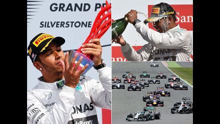 Las mejores postales del triunfo de Lewis Hamilton en GP de Gran Bretaña