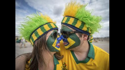 Así vivieron los hinchas la previa al Brasil - Alemania