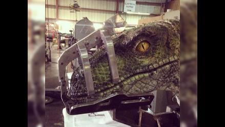 Jurassic World: ¿Primera foto de un dinosario de la película?
