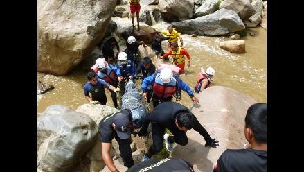 Huaraz: policía rescata cadáver de una mujer en el río Santa