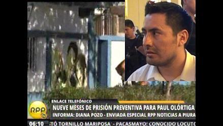 Piura: policía espera documento oficial para allanar vivienda de Olórtiga