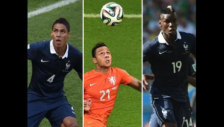 Raphael Varane, Pogba y Depay son candidatos al Mejor Juvenil del Mundial
