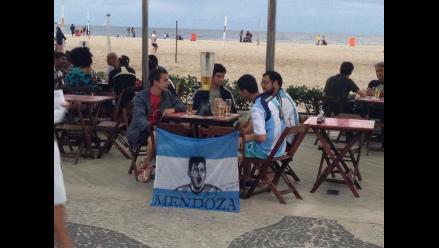 Hinchas gauchos invaden Río de Janeiro a poco del Alemania-Argentina