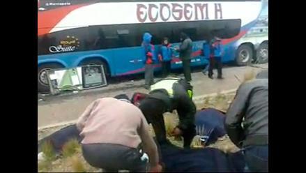 Pasco: identifican a policías muertos en choque frontal de vehículos