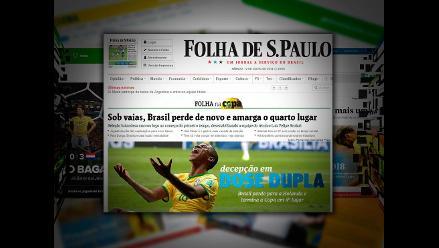 Brasil se despide del Mundial con récords negativos, lamenta prensa brasileña