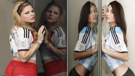 Bellas modelos calientan la antesala de la final entre Argentina vs. Alemania