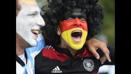 Alemania vs. Argentina: Hinchas viven eufóricamente la previa de la final