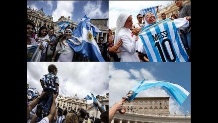 El Vaticano se tiñe de celeste y blanco en previa de la final del Mundial