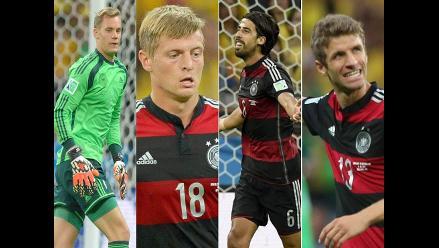 Conoce el once de Alemania ante Argentina en la final del Mundial