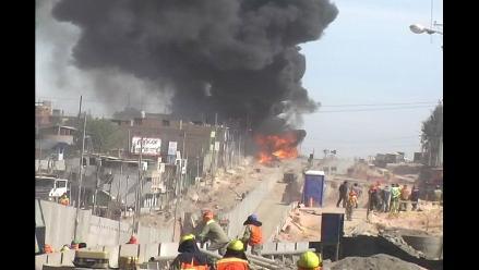 Arequipa: fallece paciente herido en deflagración e incendio de cisterna