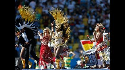 Shakira alborotó la clausura del Mundial con su movimiento de caderas