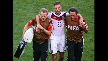 Alemania vs. Argentina: Kramer impactó duramente con Garay y es cambiado