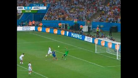 Alemania vs. Argentina: Rodrigo Palacio y la clara opción que desperdició