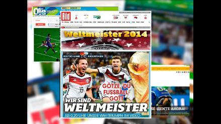 Prensa internacional y sus diversas reacciones tras Alemania Campeón Mundial