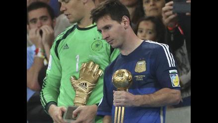 Lionel Messi fue elegido como el mejor jugador del Mundial Brasil 2014