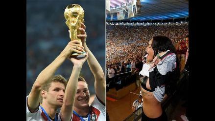 Rihanna se sacó la camiseta con el título mundial de Alemania
