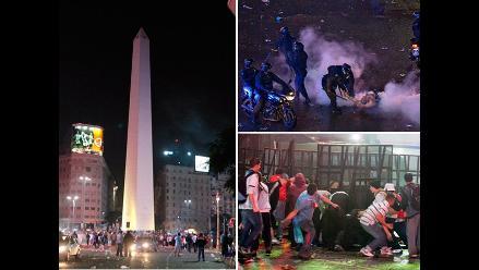 Disturbios en Buenos Aires tras subcampeonato de Argentina