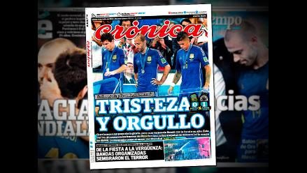 Prensa argentina agradece a ´guerreros´ de Sabella subcampeonato mundial