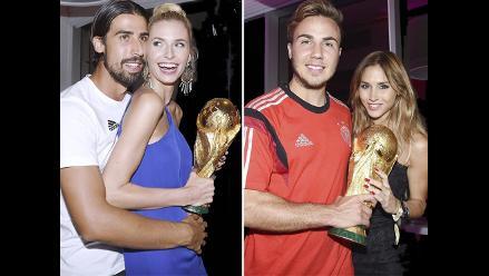 Jugadores alemanes celebraron Copa del Mundo con sus bellas novias