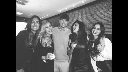 ¿Ashton Kutcher y novia de Neymar juntos en una fiesta?