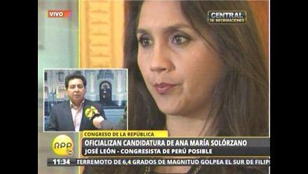 Mayoría de Perú Posible no respalda candidatura de Solórzano