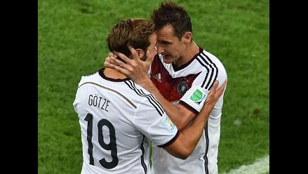 Miroslav Klose y la frase que usó para motivar a Mario Götze en la final