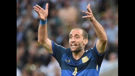 Pablo Zabaleta se enojó con periodista tras perder la final del Mundial